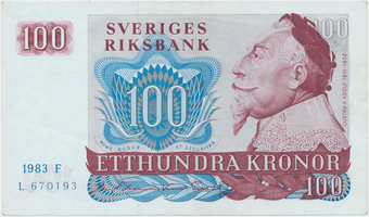 Švédsko, 100 Kronor 1983, P.54c