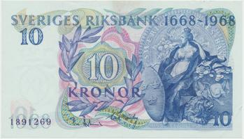 Švédsko, 10 Kronor 1958, jubilejní, P.56