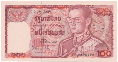 Thajsko, 100 Baht (1978), P.89