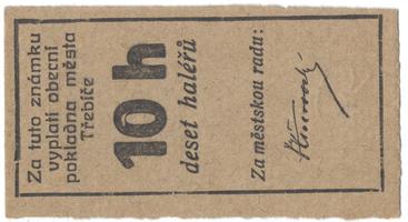 Třebíč - město, 10 hal b.d., HH.223.5.1a