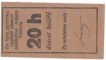 Třebíč - město, 20 hal b.d., HH.223.5.2