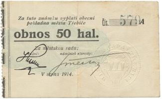 Třebíč - město, 50 hal srpen 1914, série A, HH.223.5.4b