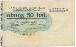 Třebíč - město, 50 hal srpen 1914, série A, HH.223.5.4d