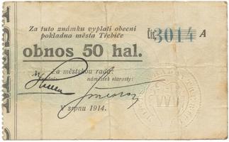 Třebíč - město, 50 hal srpen 1914, série A, HH.223.5.4f