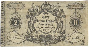 Trebnitz (Třebenice) - Anton Preiss, 2 kr. konv. měny b.d., VR.1370.08.01.O