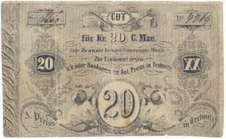 Trebnitz (Třebenice) - Anton Preiss, 20 kr. konv. měny b.d., VR.1370.08.07.O