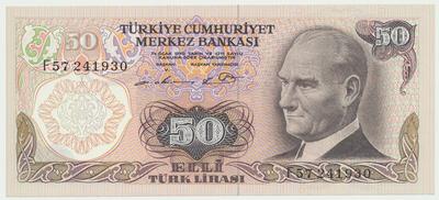 Turecko, 50 Lira (1976), P.188