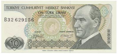 Turecko, 10 Lira (1979), P.192