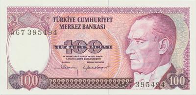 Turecko, 100 Lira (1984), P.194a