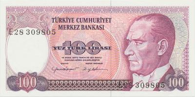Turecko, 100 Lira (1984), P.194b