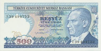 Turecko, 500 Lira (1983), P.195