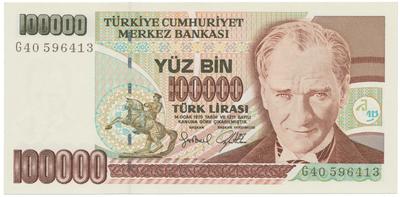 Turecko, 100.000 Lira (1997), P.206