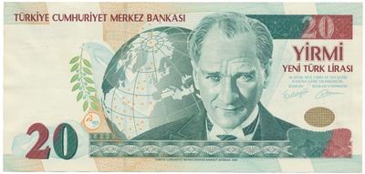 Turecko, 20 New Lira 2005, P.219