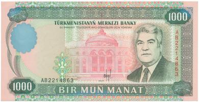 Turkmenistán, 1000 Manat 1995, P.8
