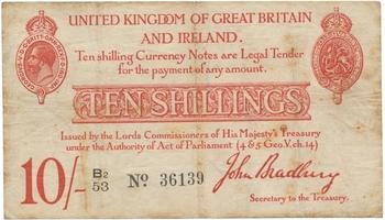 Velká Británie, 10 Shillings b.d. (1940~1948), P.366