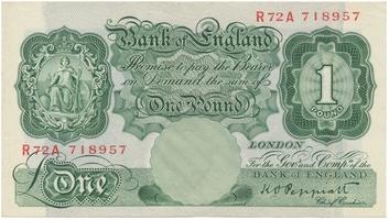Velká Británie, 1 Poud b.d. (1948~1949), Peppiat, P.369a