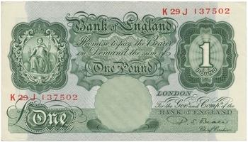 Velká Británie, 1 Pound (1949~1955), Beale, P.369b