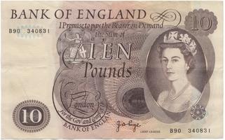 Velká Británie, 1 Poud b.d. (1970~1977), Page, P.374g, 2 ks, čísla po sobě