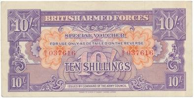 Velká Británie, BAF, 1 Shilling b.d. (1948), P.M18a