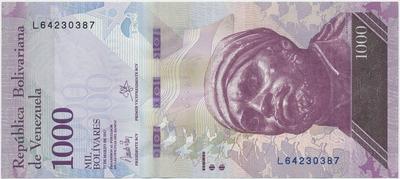 Venezuela, 1000 Bolivares 2017, P.95b