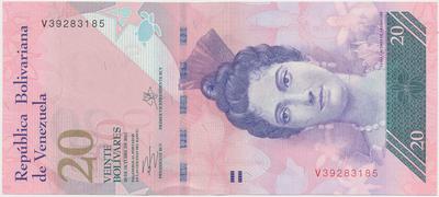 Venezuela, 20 Bolivares 2013, P.97f