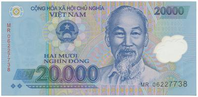 Vietnam, 20000 Dong 2006, P.120a, plastová