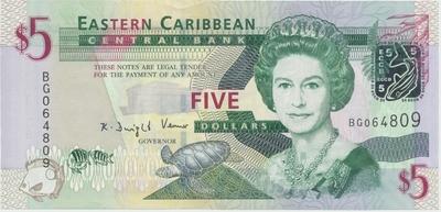 Východní Karibik, 5 Dollars (2008), P.47a