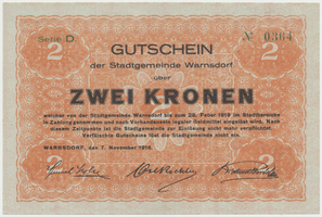 Warnsdorf (Varnsdorf) - město, 2 K  7. 11. 1918, HH.245.2.2b
