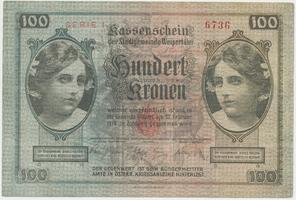 Weipert (Vejprty) - město, 100 K  (1918-1919) + raz. prodl. platnosti 1919, HH.248.1.3c