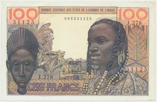 Západoafrické státy, 100 Francs (1959), P.2b