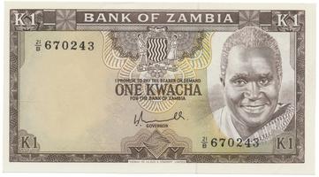 Zambie, 1 Kwacha (1976), P.19a