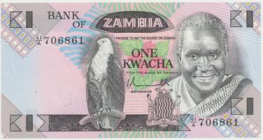 Zambie, 1 Kwacha (1980), P.23a