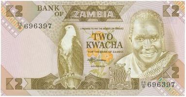 Zambie, 2 Kwacha (1986~1988), P.24c