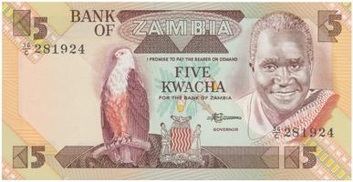 Zambie, 5 Kwacha (1986~1988), P.25d