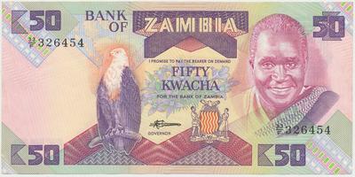 Zambie, 50 Kwacha (1986~1988), P.28a