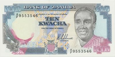 Zambie, 10 Kwacha (1989~1990), P.31a