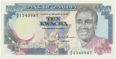 Zambie, 10 Kwacha (19991), P.31b