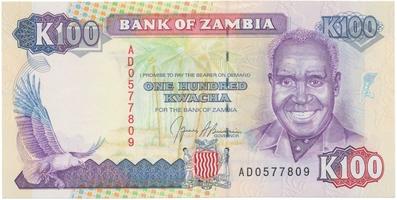 Zambie, 100 Kwacha (1991), P.34a
