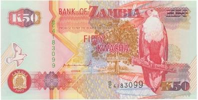 Zambie, 50 Kwacha 1992, P.37a