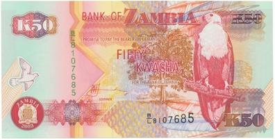 Zambie, 50 Kwacha 2003, P.37d