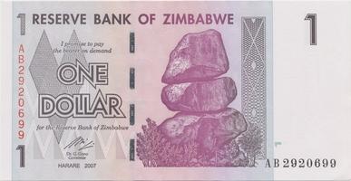 Zimbabwe, 1 Dollar 2007, P.65