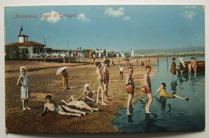 Itálie, Monfalcone, Bagni di Spiaggia, plavci