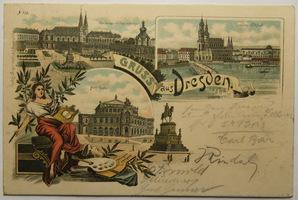 Německo, Drážďany, Dresden, Gruss aus