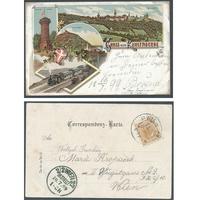 Rakousko, Kahlenberg 1899, litografie
