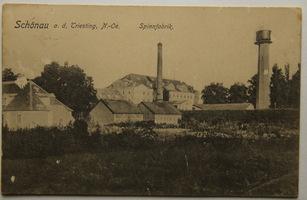 Rakousko, Schönau a.d. Triesting, N.Ö., Spinnfabrik, textilní továrna