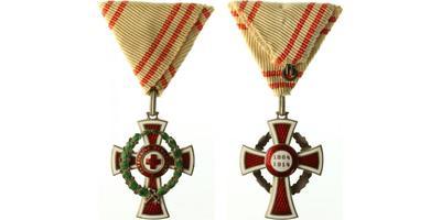 Čestné vyznamenání Za zásluhy o Červený kříž, II. třída s válečnou dekorací, stříbro, Marko.161