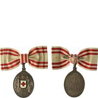 Čestné vyznamenání Za zásluhy o Červený kříž na dámské stuze, stříbrná medaile, stříb