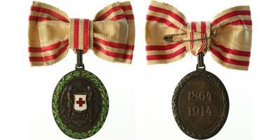 Čestné vyznamenání Za zásluhy o Červený kříž, stříbrná medaile s válečnou dekorací, Marko.163a