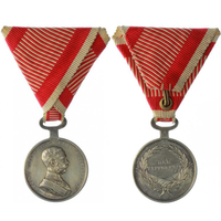 Medaile za statečnost, stříbrná medaile, II. třída, VIII. vydání 1914 - 1917, Františ