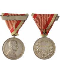 Medaile za statečnost, stříbrná medaile pro důstojníky, IX. vydání 1917 - 1917, stříb